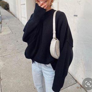 Free people easy street tunic sweater Black S